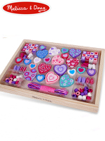 Melissa & Doug Sweet Hearts Bead Set 멜리사앤더그 유아교구 원목 구슬놀이 장난감