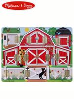 Melissa & Doug Hide & Seek Farm 멜리사앤더그 유아교구 원목 숨기놀이 퍼즐 장난감
