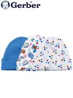 Gerber 거버 순면 아기 모자 3개 set - 블루스포츠