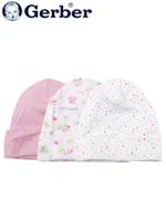 Gerber 거버 순면 아기 모자 3개 set - 핑크무당벌레