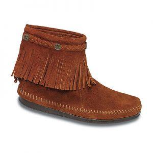 BIG SALE 50%할인 미네통카 스웨이드 부츠 ( Minnetonka Hi Top Back Zip Boot Brown Suede )
