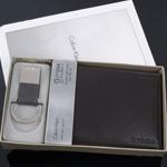 CK 캘빈클라인 남성반지갑 + 키홀더 세트 79080 브라운