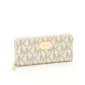 BIG SALE 50%할인 마이클 코어스 지갑 바닐라 색상 ( Michael Kors Continental Logo Wallet Vanilla )