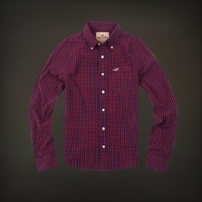 Hollister 홀리스터 긴팔플래드셔츠 맨하탄비치 - 레드네이비
