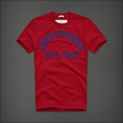 Abercrombie 아베크롬비 남녀공용 반팔 티셔츠 터퍼레이크(Tupper Lake) - 레드