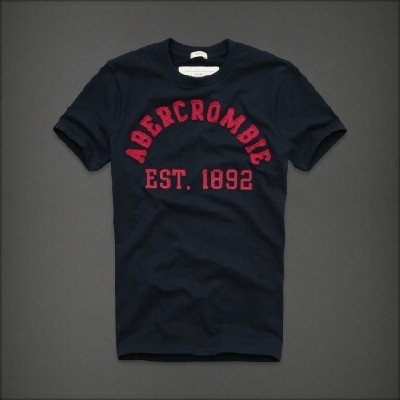 Abercrombie 아베크롬비 남녀공용 반팔 티셔츠 터퍼레이크(Tupper Lake) - 네이비
