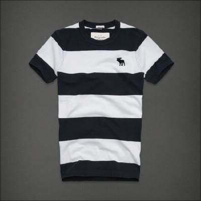 Abercrombie 아베크롬비 남녀공용 반팔 티셔츠 알곤킨(Algonquin) - 네이비앤화이트