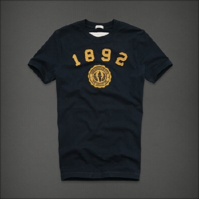 Abercrombie 아베크롬비 남녀공용 반팔 티셔츠 노스사이드트레일(Northside Trail) - 네이비앤옐로우