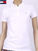 Tommy Hilfiger 타미힐피거 여성용 반팔 PK셔츠 - 화이트