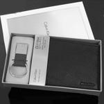 CK 캘빈클라인 남성반지갑 + 키홀더 세트 79080 블랙