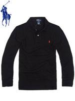 POLO 폴로보이즈 긴팔 PK 셔츠 - 블랙