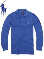 POLO 폴로보이즈 긴팔 PK 셔츠 - 블루