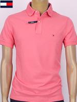 Tommy Hilfiger 타미힐피거 성인용 커스텀핏 반팔 PK셔츠 - 핑크