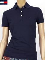 Tommy Hilfiger 타미힐피거 여성용 반팔 PK셔츠 - 네이비