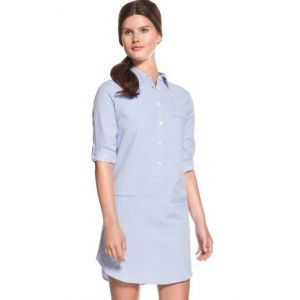 BIG SALE 50%할인 라코스테 셔츠 드레스 (Lacoste Elbow Sleeve Washed Oxford Shirt Dress)