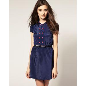 BIG SALE 50%할인 아소스 베로모다 드레스 (ASOS Vero Moda Contrast Piped Frill Collar Dress )