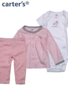Carter's 카터스 실내복 선물용 3종세트 121A823/핑크