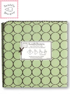 Swaddle Design 스와들디자인 SD 코튼블랭킷 1종 아기 속싸개 - 라임써클(016LM_SDCB016LM)