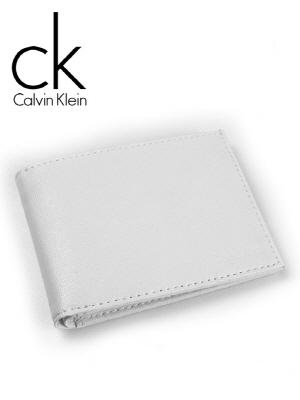 CK 캘빈클라인 남성반지갑 + 키홀더 세트 79350 화이트