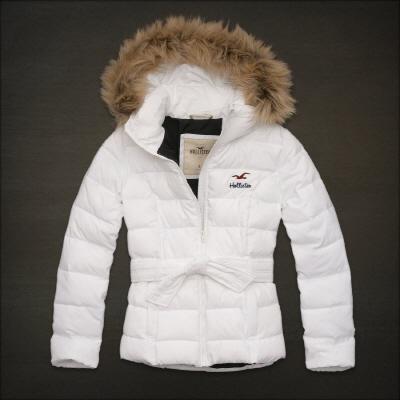 Hollister 홀리스터 여성용 후드패딩점퍼 카디프재킷(Cardiff Jacket) - 화이트