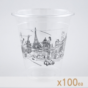 ICE 테이크아웃 컵 - 무늬 (14온스) 100개