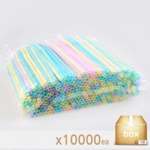 아이스컵 용 자바라 스트로우 (파스텔) - 박스판매(500EA*20봉)