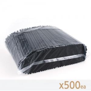 아이스 컵 용 일자 스푼 스트로 (검정) - 500개
