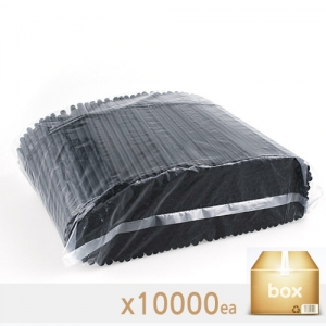 아이스 컵 용 일자 스푼 스트로 (검정) - 박스판매(500EA*20봉)