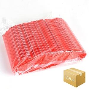 커피스틱 18cm 레드- 1000개X10봉 박스판매