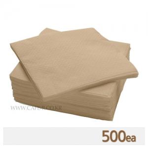 무지 냅킨 - 브라운 (500매)