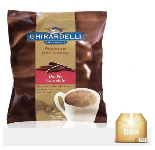 [기라델리]프리미엄 핫 코코아 더블 초콜릿 1박스(908g x4개)